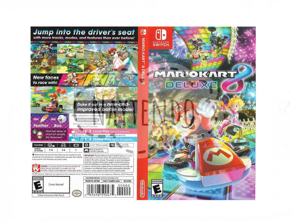 Custom Nintendo Switch Art Cover w/ Game Case - Mario Kart 8