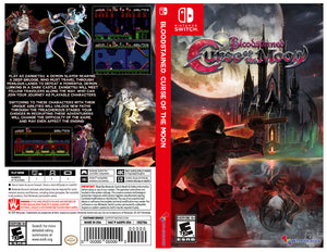 Custom Nintendo Switch Art Cover w/ Game Case - Bloodstained: Curse of the Moon