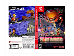 Custom Nintendo Switch Art Cover w/ Game Case - Enter the Gungeon
