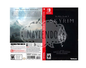 Custom Nintendo Switch Art Cover w/ Game Case - Skyrim