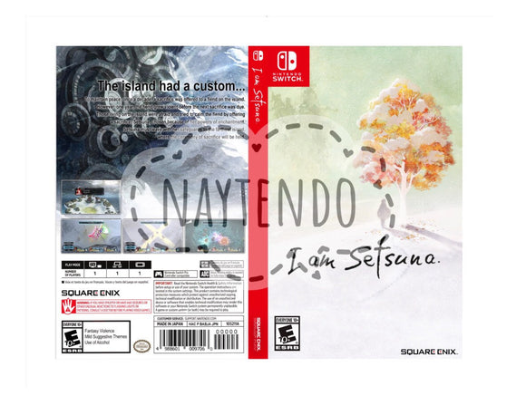 Custom Nintendo Switch Art Cover w/ Game Case - I am Setsuna