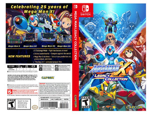 Custom Nintendo Switch Art Cover w/ Game Case - Mega Man X Legacy Collection