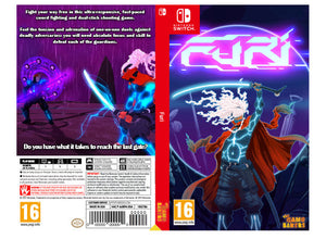 Custom Nintendo Switch Art Cover w/ Game Case - Furi