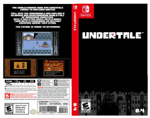 Custom Nintendo Switch Art Cover w/ Game Case -Undertale