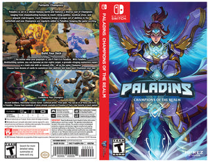 Custom Nintendo Switch Art Cover w/ Game Case - Paladins: Champions of the Realm (Alternative Art)