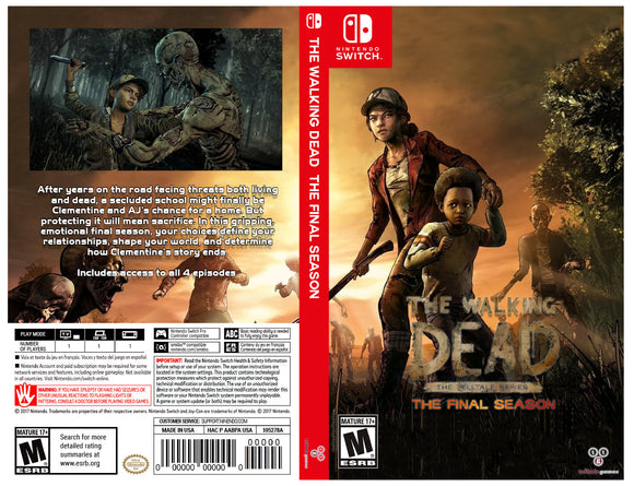 Custom Nintendo Switch Art Cover w/ Game Case - The Walking Dead: The Final Season