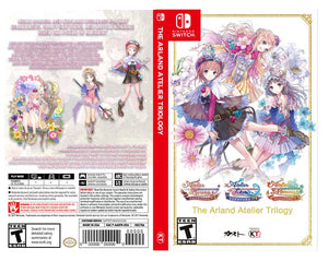 Custom Nintendo Switch Art Cover w/ Game Case - The Arland Atelier Trilogy