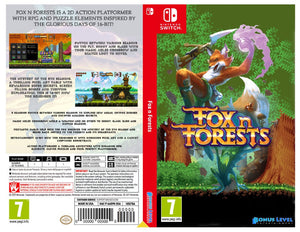 Custom Nintendo Switch Art Cover w/ Game Case - Fox n Forests