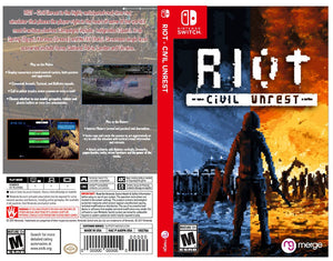 RIOT - Civil Unrest- Custom Nintendo Switch Art Cover w/ Game Case