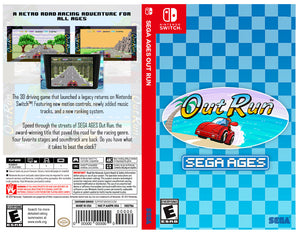 SEGA AGES Out Run - Custom Nintendo Switch Art Cover w/ Game Case