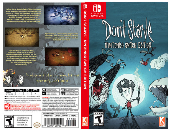 Custom Nintendo Switch Art Cover w/ Game Case - Don't Starve: Nintendo Switch Edition