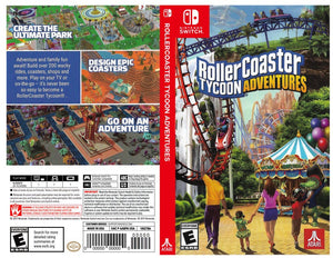 Custom Nintendo Switch Art Cover w/ Game Case - Rollercoaster Tycoon Adventures