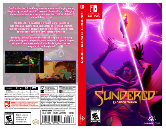 Custom Nintendo Switch Art Cover w/ Game Case - Sundered: Eldritch Edition