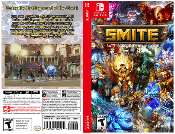 SMITE - Custom Nintendo Switch Art Cover w/ Game Case