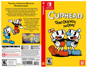 Cuphead - Custom Nintendo Switch Art Cover w/ Game Case