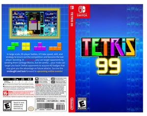 Tetris 99 - Custom Nintendo Switch Art Cover w/ Game Case