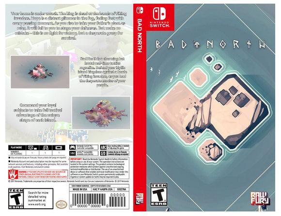 Bad North - Custom Nintendo Switch Art Cover w/ Game Case