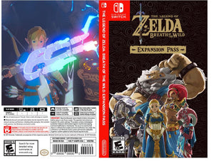 Custom Nintendo Switch Art Cover w/ Game Case - Breath of the Wild Expansion Pass