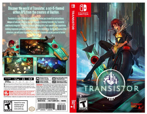 Transistor - Custom Nintendo Switch Art Cover w/ Game Case