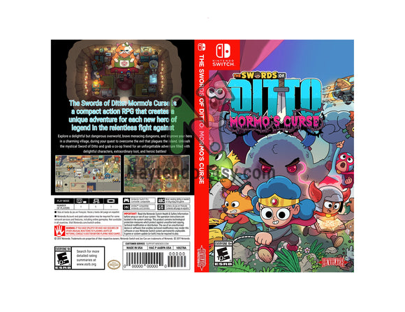 Swords of Ditto: Mormo's Curse Custom Nintendo Switch Art Cover w/ Game Case