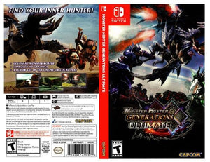 Monster Hunter Generations Ultimate - Custom Nintendo Switch Art Cover w/ Game Case