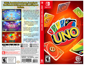 Uno - Custom Nintendo Switch Art Cover w/ Game Case