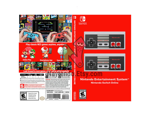 Nintendo Entertainment System - Nintendo Switch Online - Custom Nintendo Switch Art Cover w/ Game Case