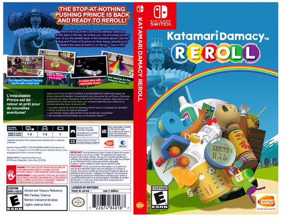 Katamari Damacy REROLL - Custom Nintendo Switch Art Cover w/ Game Case