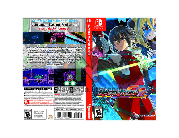 Blaster Master Zero 2 - Custom Nintendo Switch Art Cover w/ Game Case