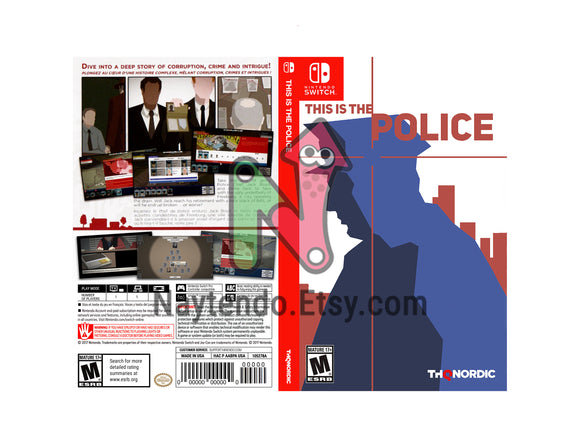 This is the Police - Custom Nintendo Switch Art Cover w/ Game Case