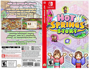 Hot Springs Story - Custom Nintendo Switch Art Cover w/ Game Case