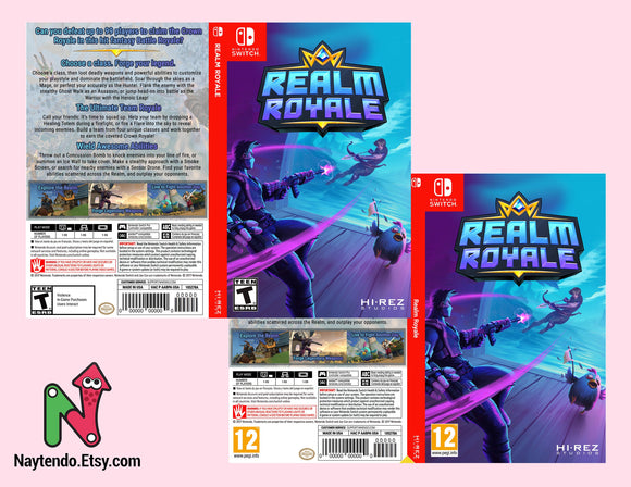 Realm Royale - Custom Nintendo Switch Art Cover w/ Game Case