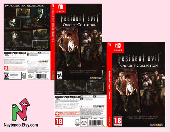 Resident Evil Origins Collection - Custom Nintendo Switch Art Cover w/ Game Case