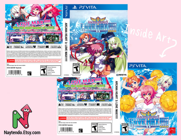 Arcana Heart 3 Love Max!!!!! - Custom PS Vita Cover