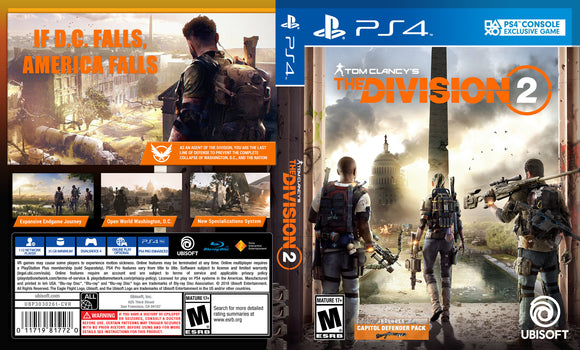 The Division 2 - Custom PS4 Art Cover w/ Game Case