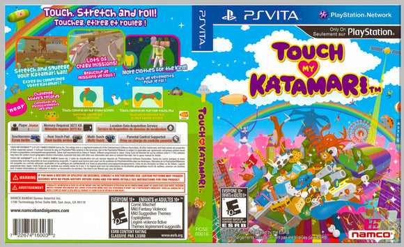 Touch My Catamari - Custom PS Vita Art Cover w/ Game Case