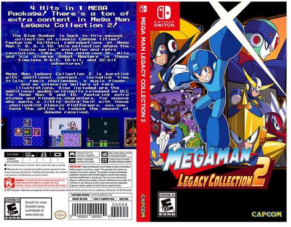 Mega Man Legacy Collection 2 - Custom Nintendo Switch Art Cover w/ Game Case