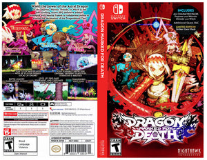 Dragon Marked for Death - Custom Nintendo Switch Art Cover w/ Game Case
