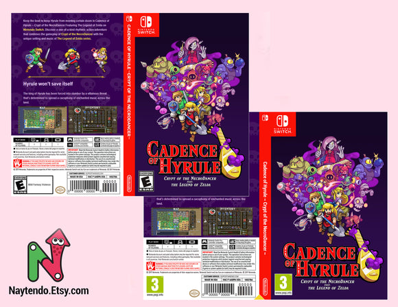 Cadence of Hyrule ~ Crypt of the NecroDancer ~ Feat. The Legend of Zelda - Custom Nintendo Switch Art Cover w/ Game Case