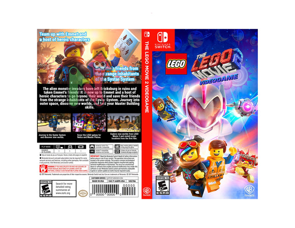 The Lego Movie 2 Videogame - Custom Nintendo Switch Art Cover w/ Game Case