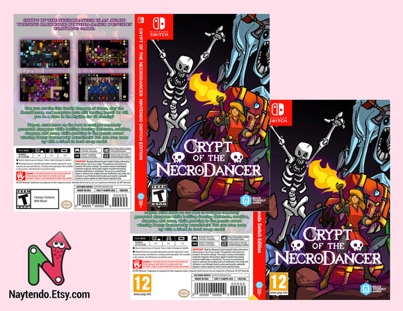 Crypt of the NecroDancer: Nintendo Switch Edition - Custom Nintendo Switch Art Cover w/ Game Case