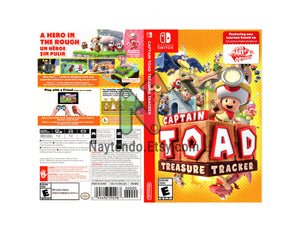 Captain Toad: Treasure Tracker - Custom Nintendo Switch Art Cover w/ Game Case