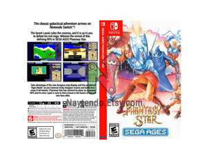 Phantasy Star SEGA AGES - Custom Nintendo Switch Art Cover w/ Game Case