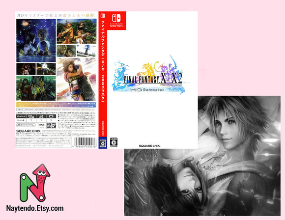 Final Fantasy X/X-2 HD Remaster JAPANESE VERSION - Custom Nintendo Switch Art Cover w/ Game Case
