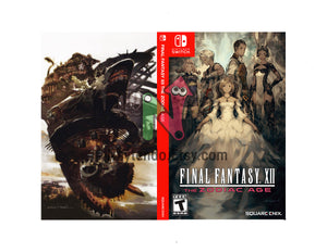 Final Fantasy XII Zodiac Age Reverse Cover - Custom Nintendo Switch Art Cover w/ Game Case