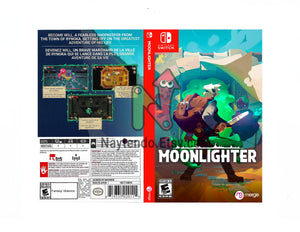 Moonlighter - Custom Nintendo Switch Art Cover w/ Game Case