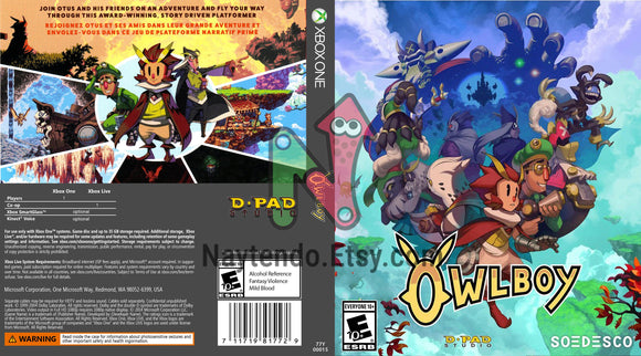 Owlboy - Custom Xbox One Art Cover