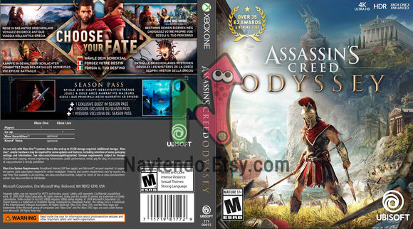 Assassin S Creed Odyssey Custom Xbox One Art Cover Naytendo