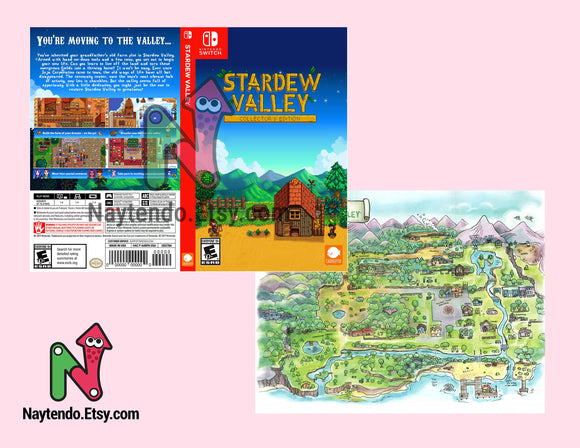 Stardew Valley - Custom Nintendo Switch Art Cover w/ Game Case