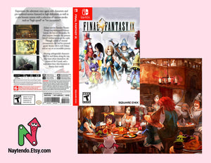 Final Fantasy IX - Custom Nintendo Switch Art Cover w/ Game Case